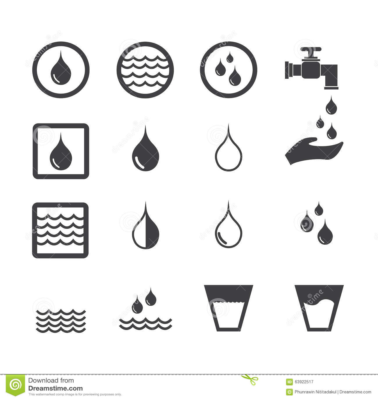 Water Icon Stock Vector Illustration Of Liquid