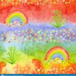 Watercolor Rainbows For Kids Textile Fabric Prints Phone Cover Vibrant Background For Bed Cloth Paper Napkin Party Design Stock Illustration Illustration Of Doodle Kids 132603628