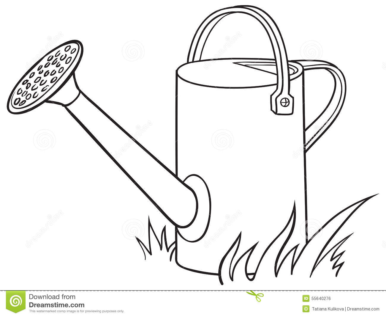 Watering Can For The Garden Stock Vector