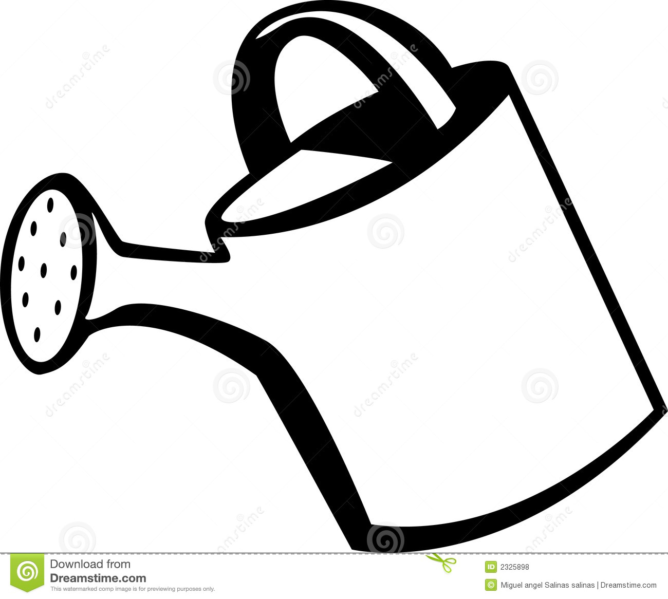 Watering Can Vector Illustration Royalty Free Stock Photos
