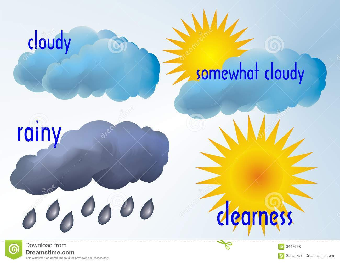 Weather Stock Vector Illustration Of Windy Nature Icons
