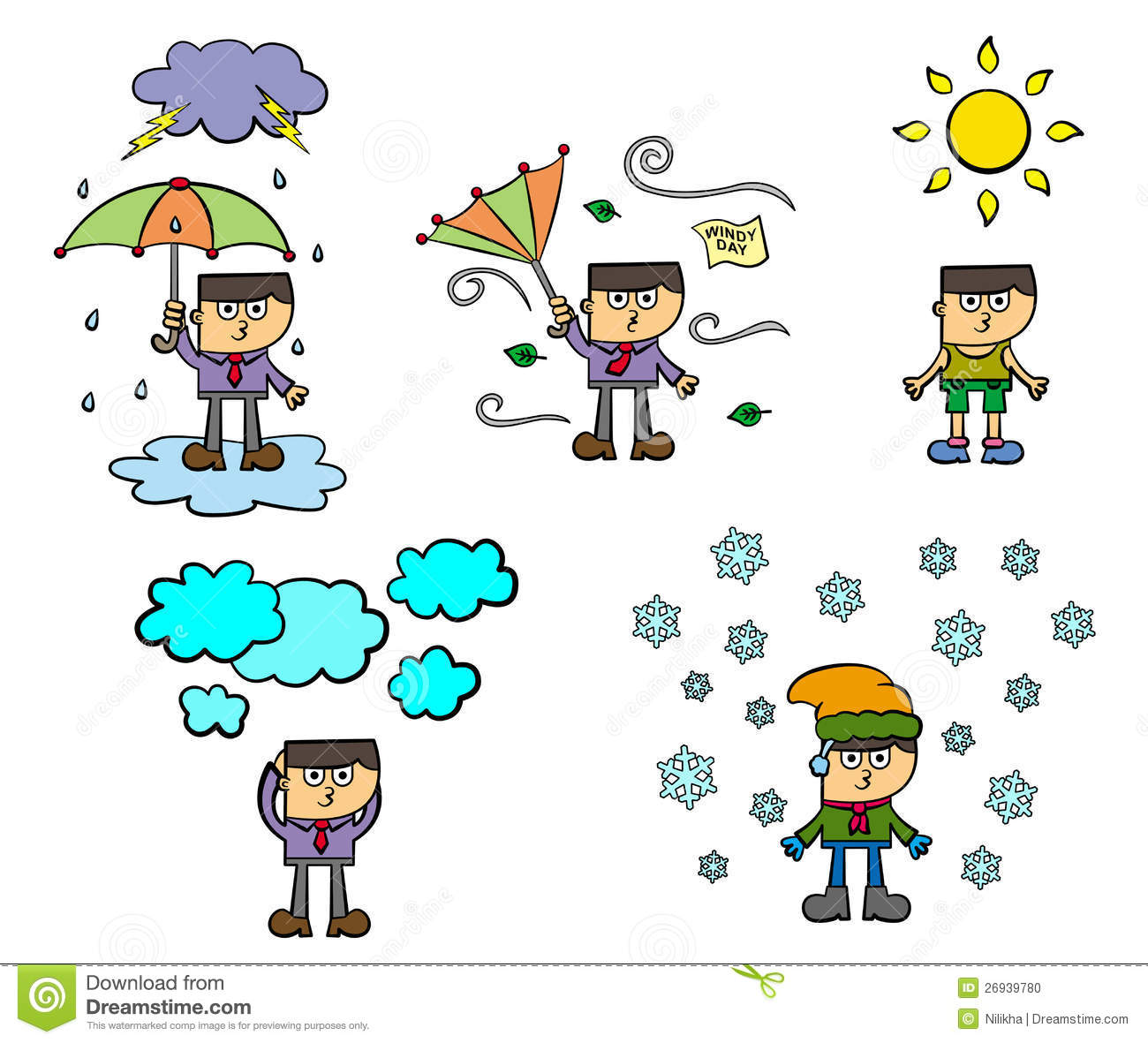 Weather Conditions Stock Illustration Illustration Of