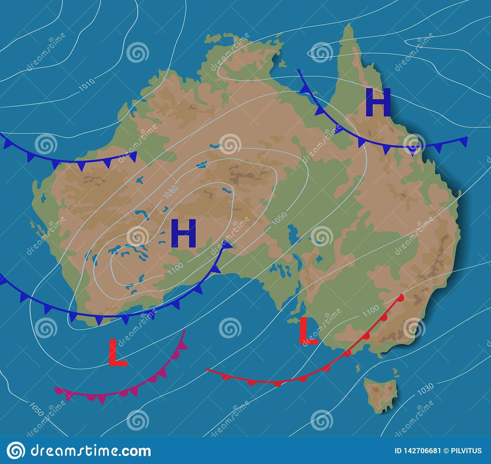 Weather Forecast Of Australia Meteorological Weather Map