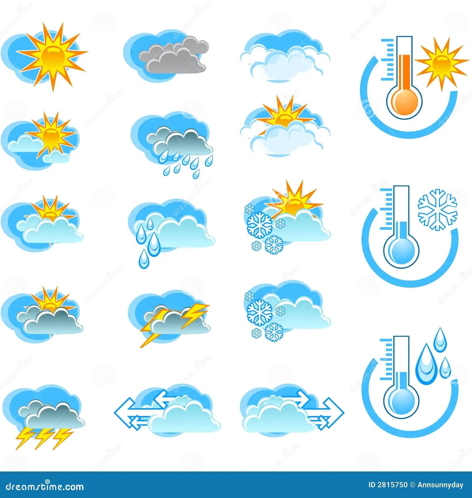 Weather Forecast Vector Icone Stock Photo