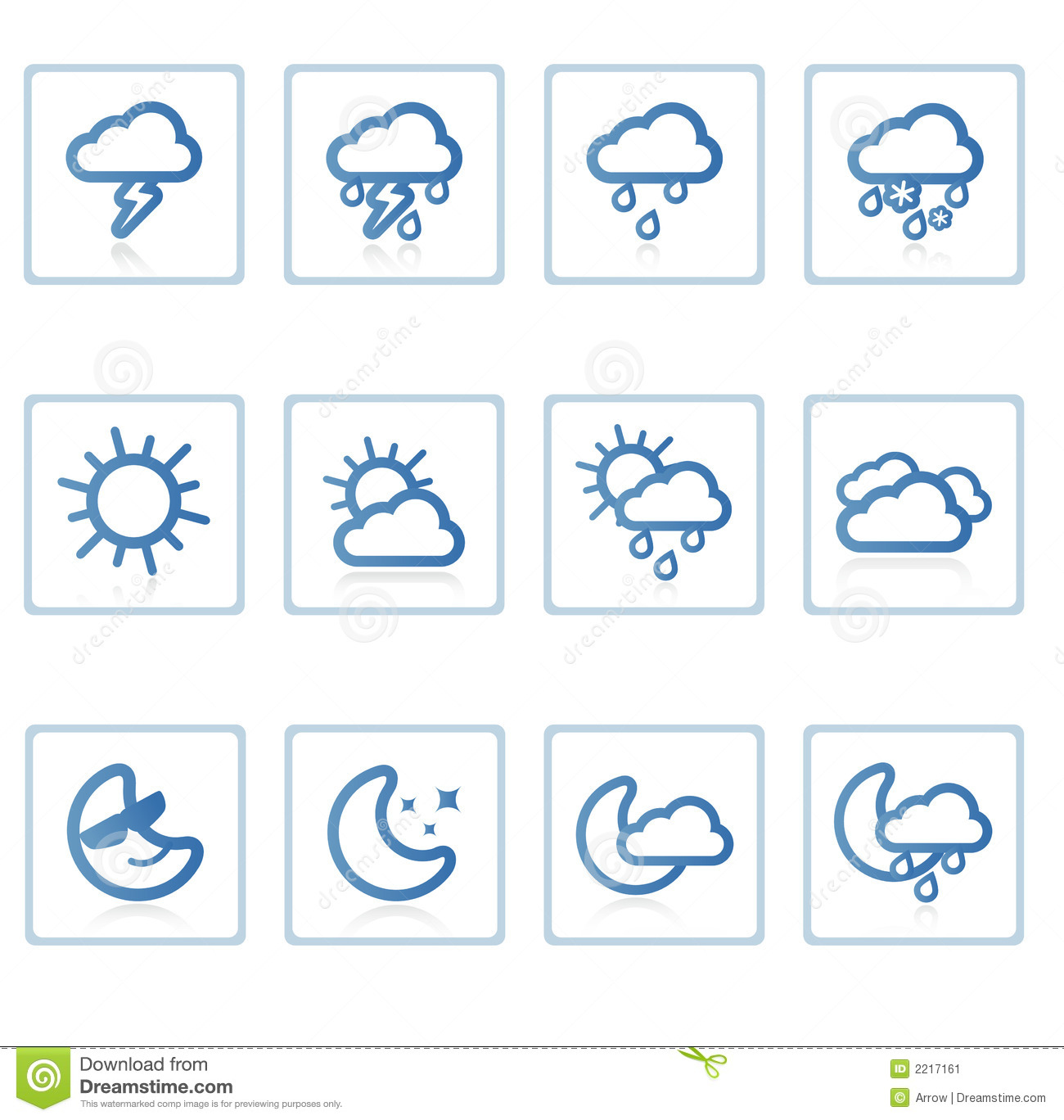 Weather Icon I Stock Illustration Illustration Of
