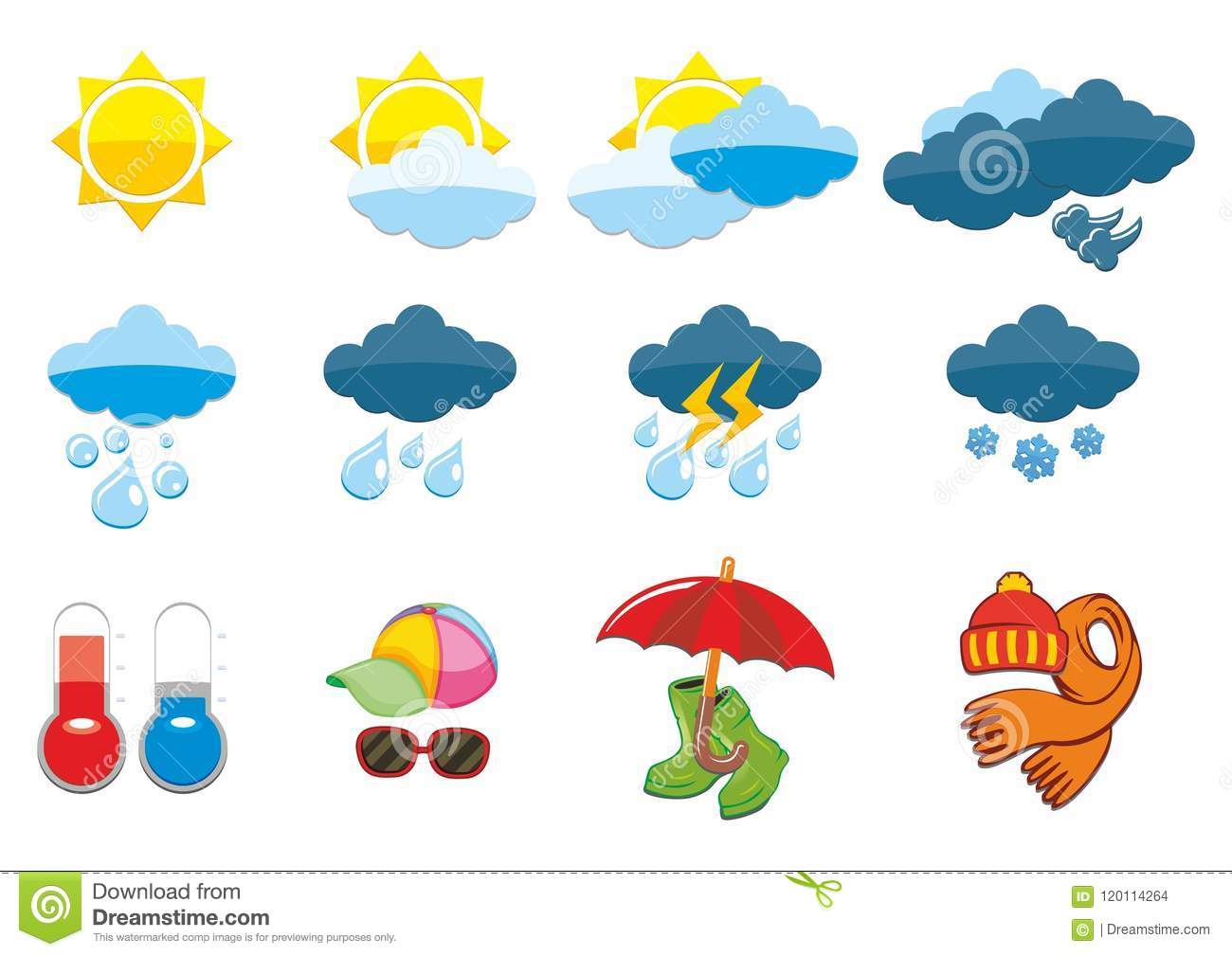 Rubber Boots And Hat Cartoon Vector