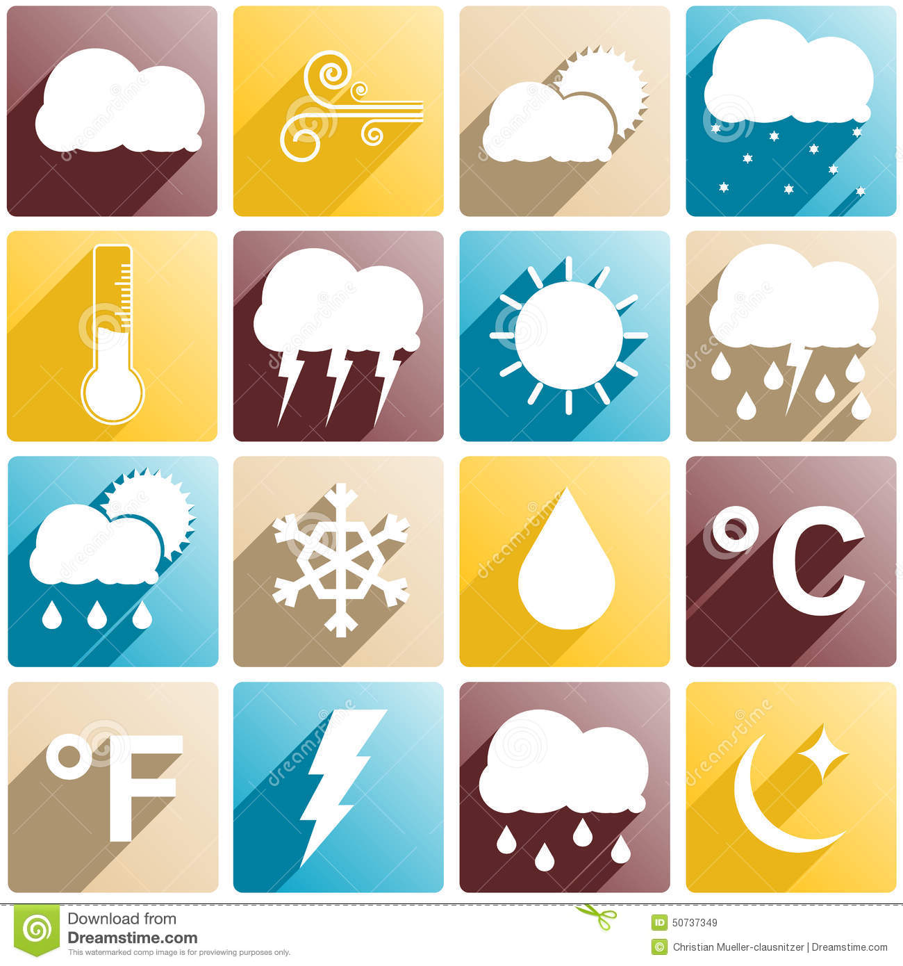 Weather Items Stock Vector Illustration Of Degree