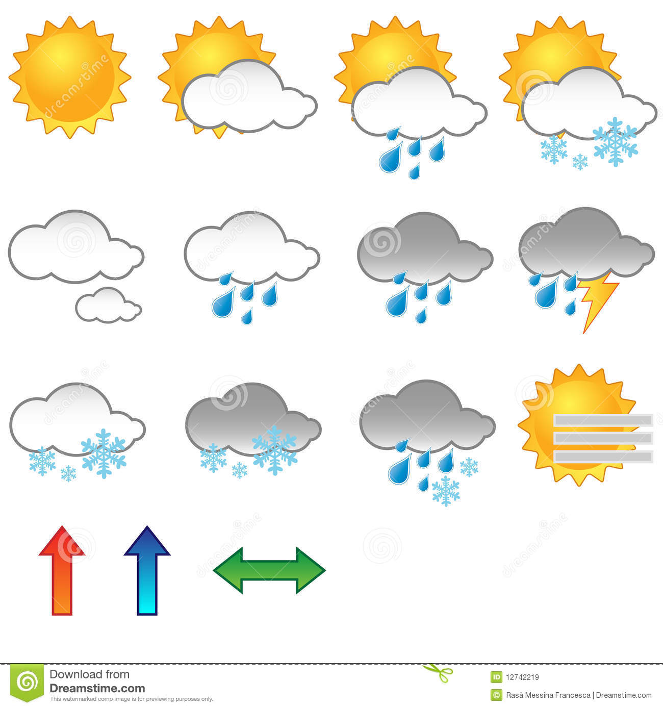 Weather Symbols Stock Vector Illustration Of Autumn