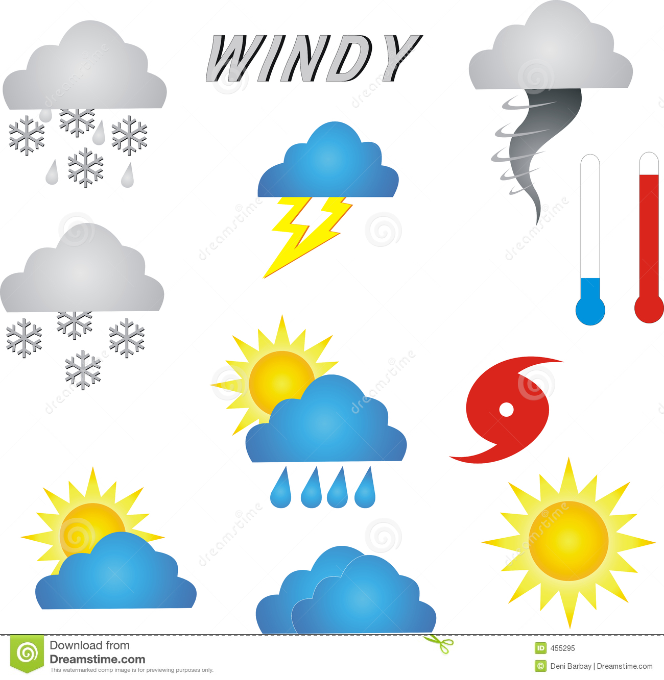 Weather Symbols Stock Illustration Illustration Of