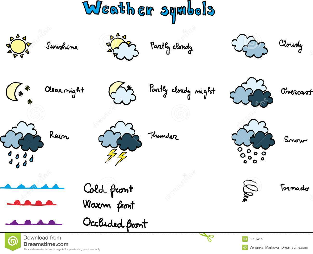 Weather Symbols Stock Vector Illustration Of Snow Cold