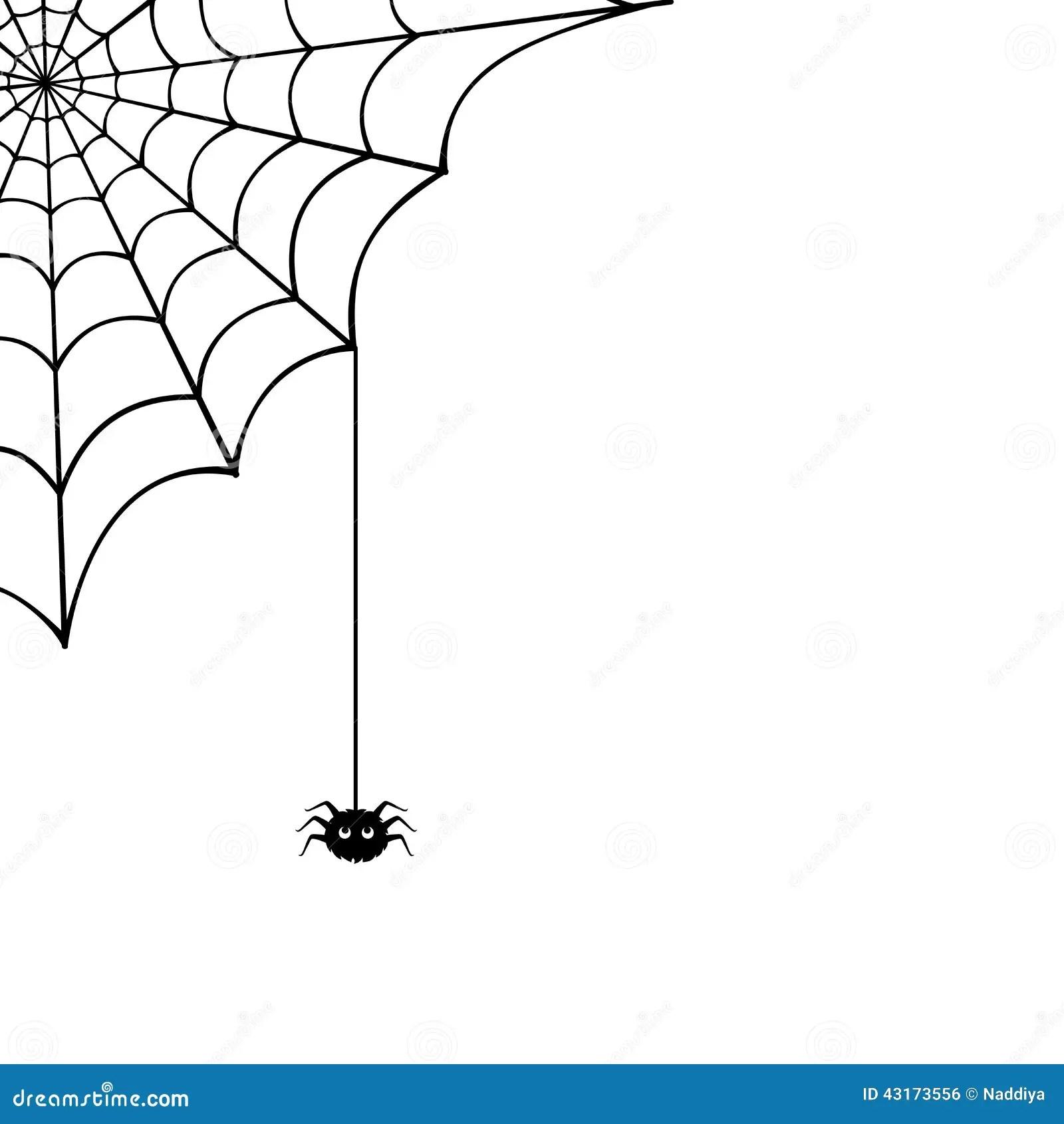 Web De Aranha E Aranha Ilustracao Do Vetor Ilustracao Do