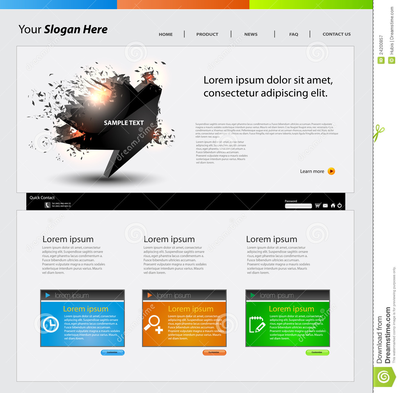 We are creating many vector designs in our studio (. Web Design Template Stock Vector Illustration Of Crack 24200857