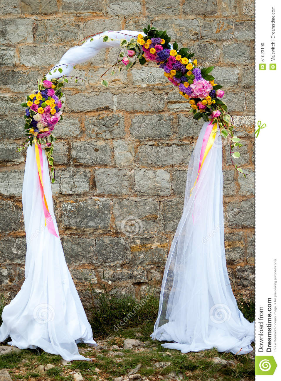 Wedding Arch Stock Photo Image 51023190