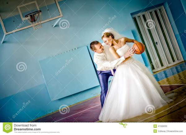 Wedding Basketball Stock Photo - Image: 41328333