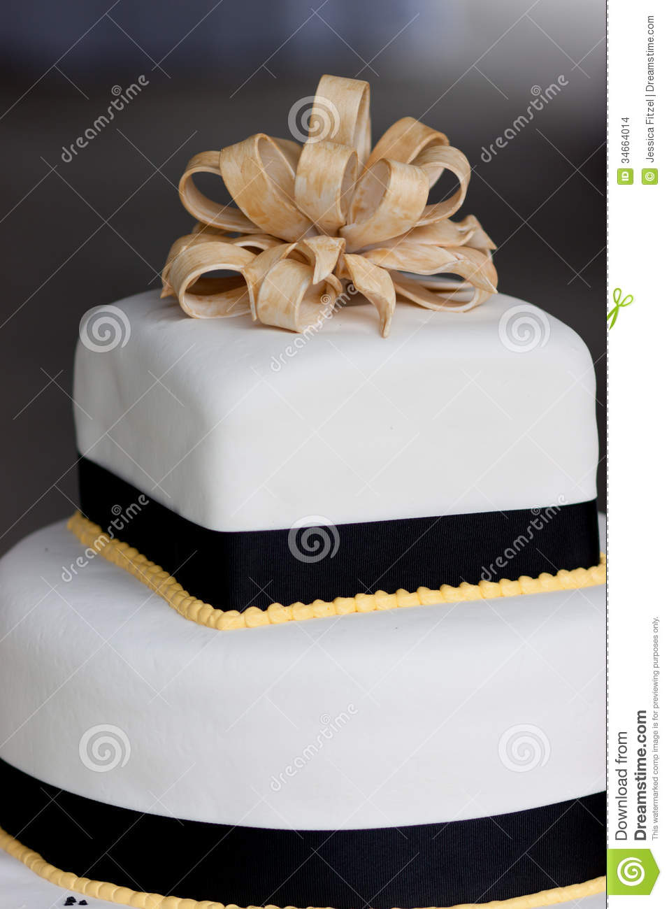 Wedding Cake Stock Photo Image Of Decorated Fondant