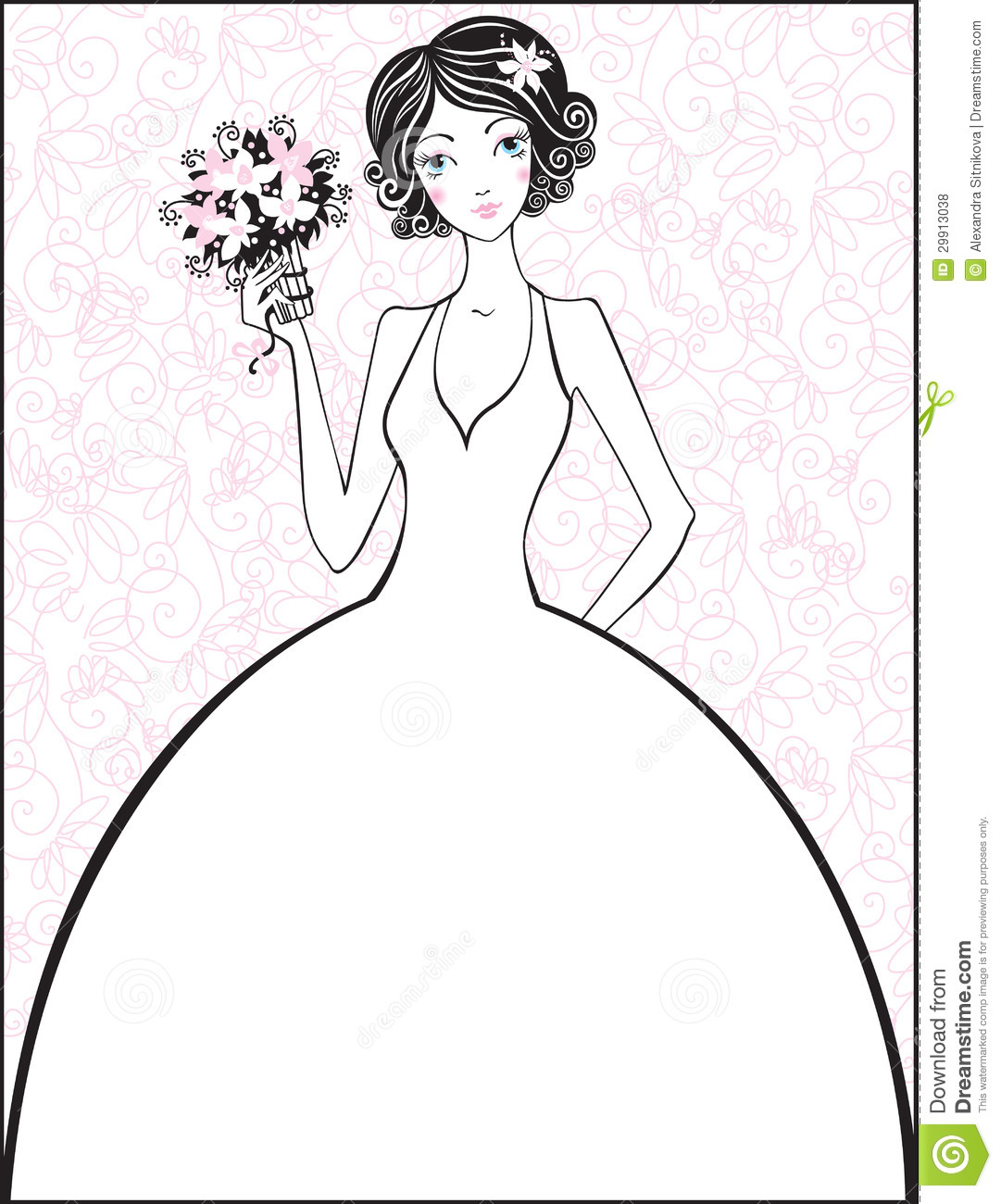 Beautiful Bride Stock Vector Illustration Of Events