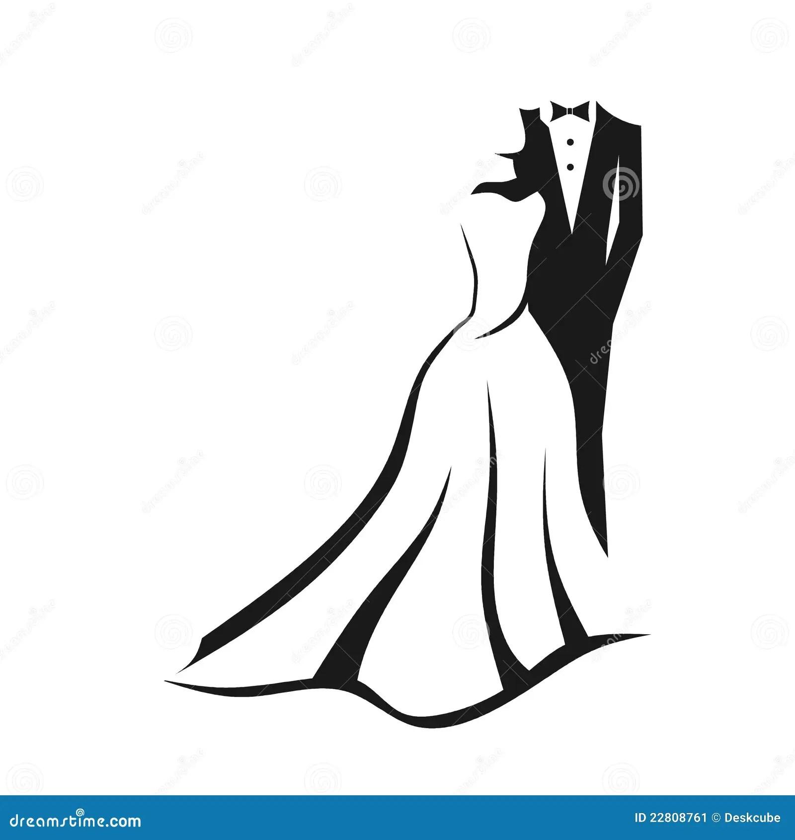 Wedding Couple Logo Stock Image