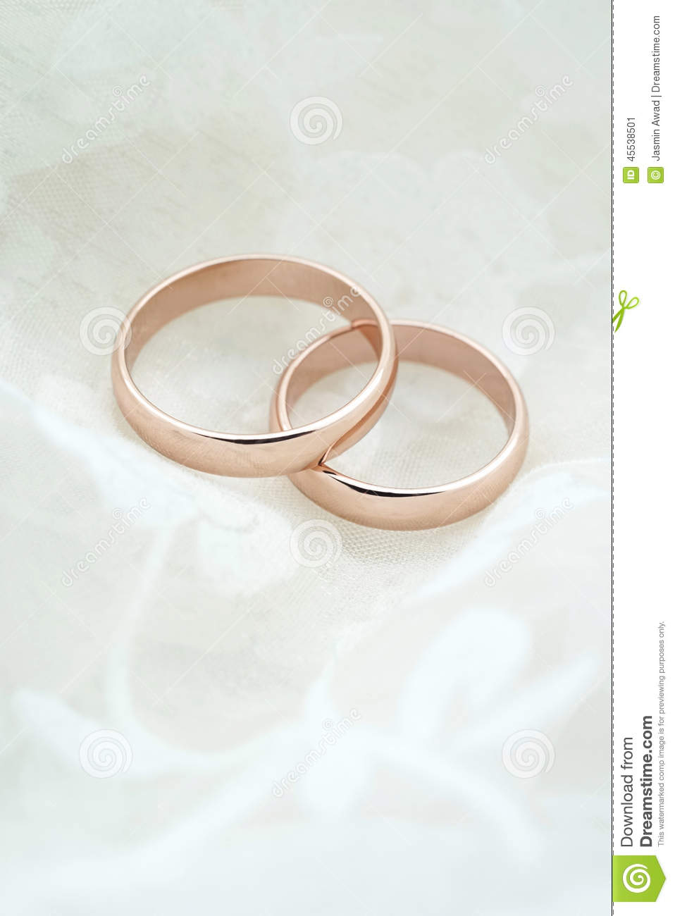 Wedding Invite With Rose Gold Rings Stock Photo Image