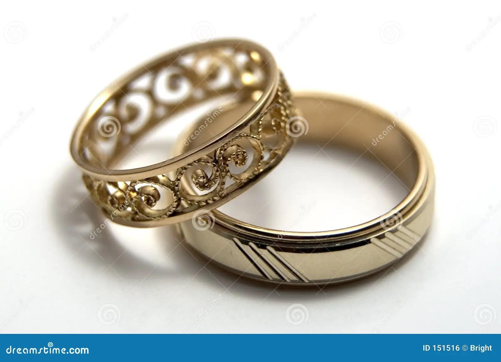 Wedding Rings Stock Photo Image Of Couple Handicraft