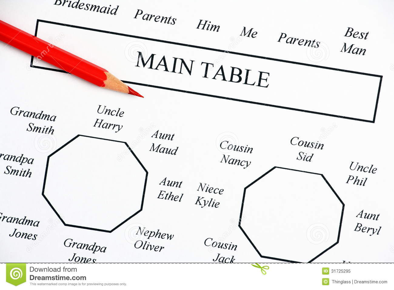Wedding Seating Plan Stock Image Image Of Chart Decision