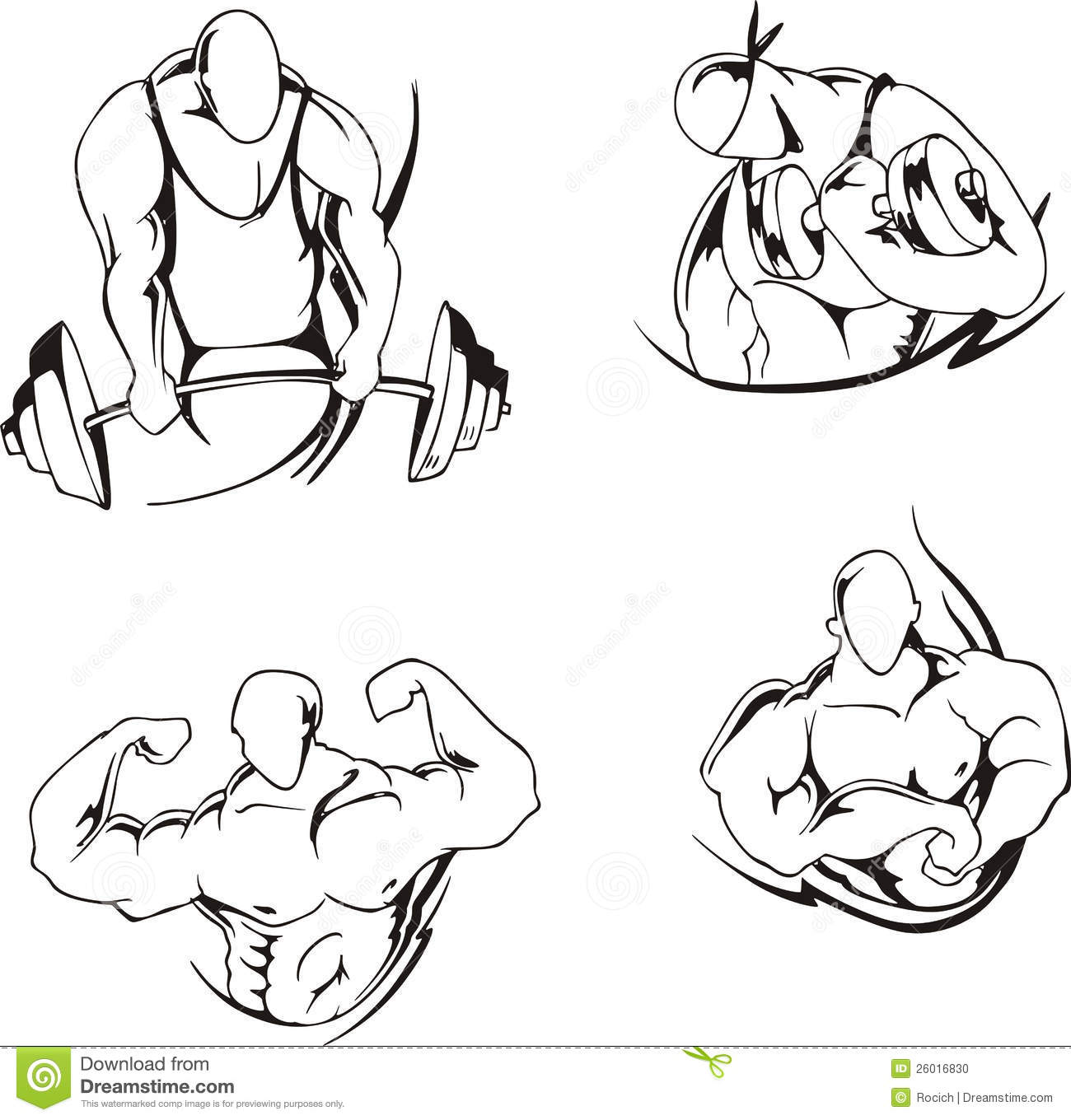 Weight Lifting And Bodybuilding Stock Vector