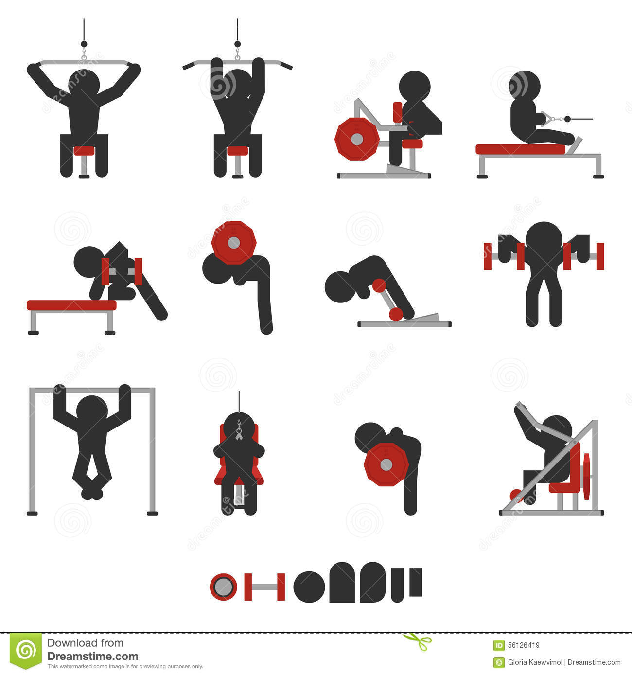 Weight Training Icon Stock Vector Image 56126419