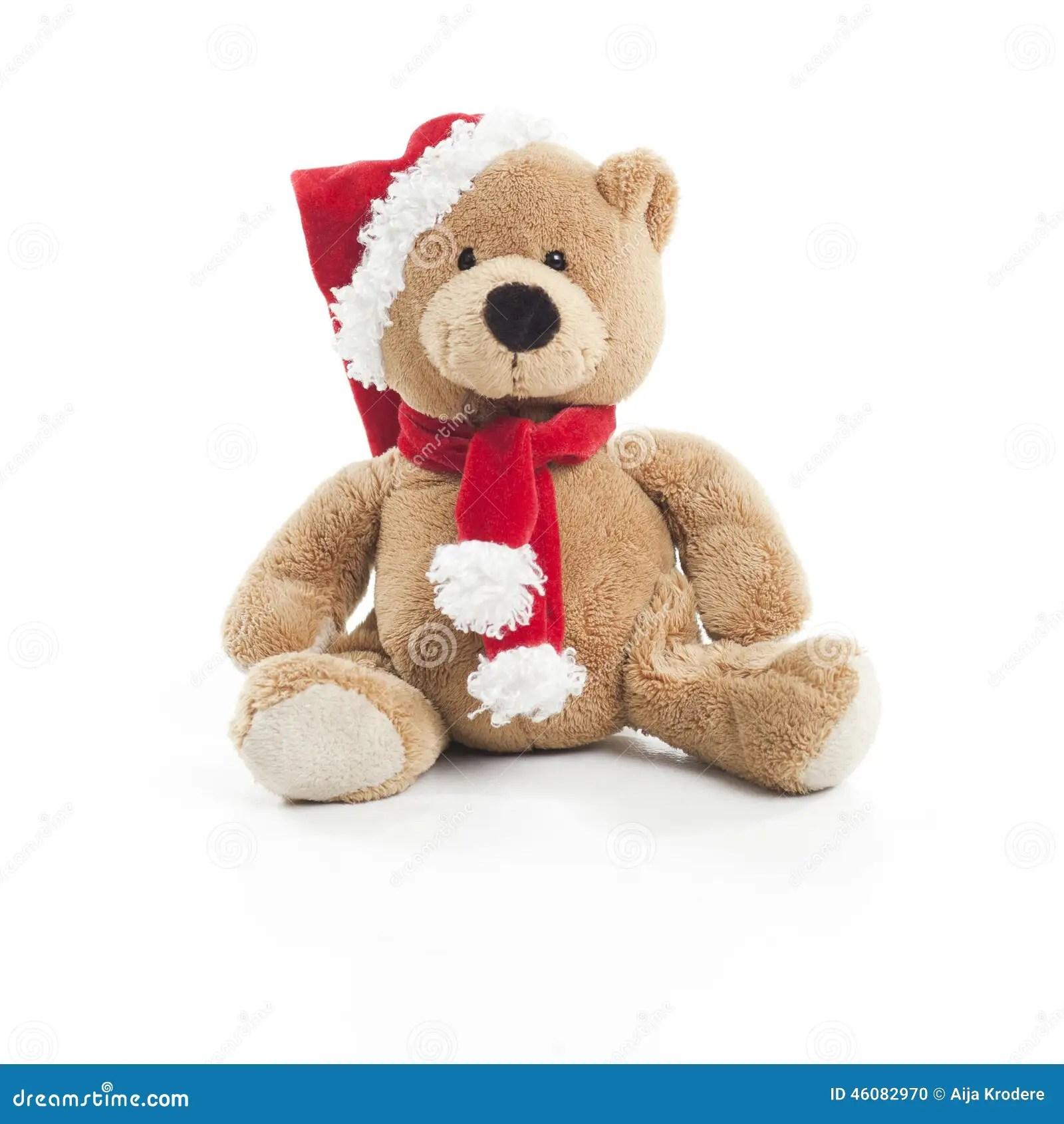 Weihnachten Teddy Bear Stockfoto Bild Von Spielzeug