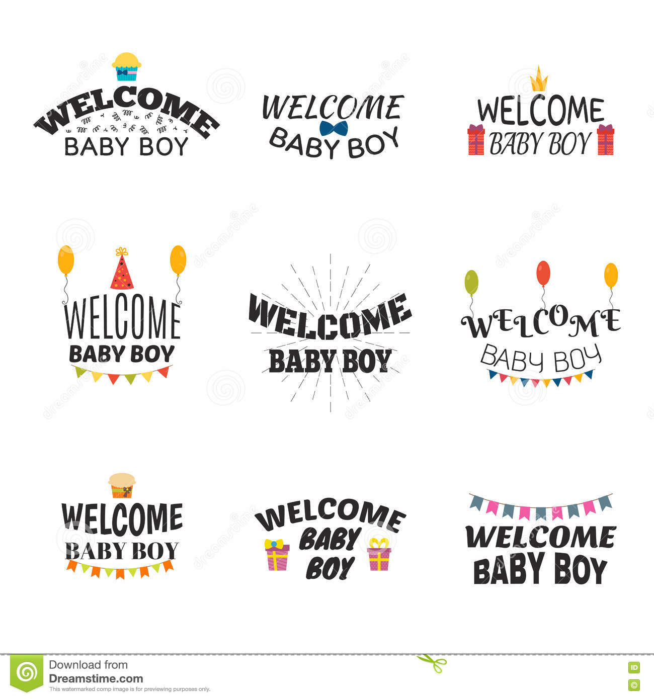 Welcome Baby Boy Baby Boy Arrival Postcards Baby Shower