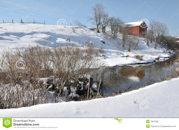 West Virginia Winter Red Barn Royalty Free Stock Image ...
