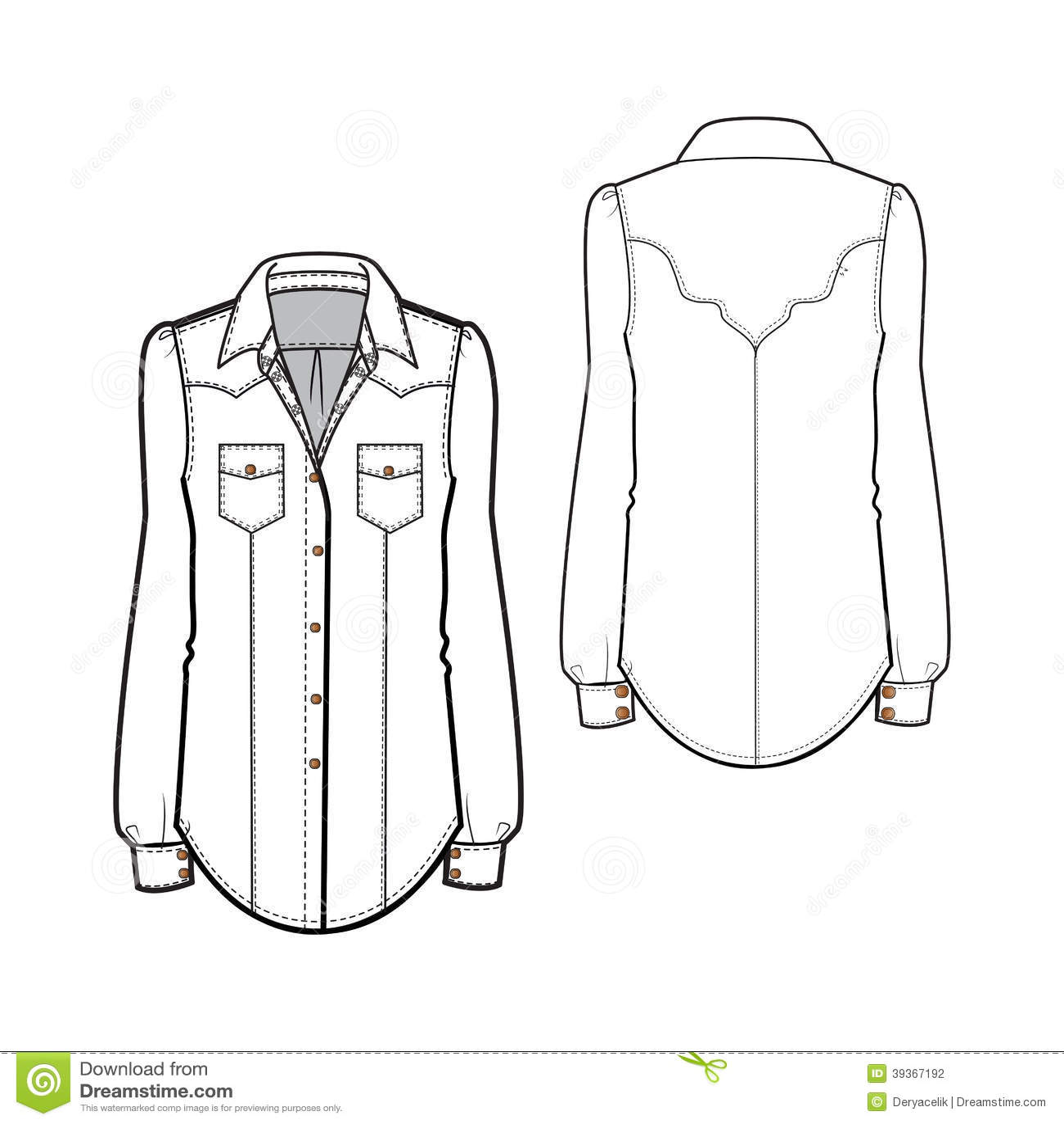 Western Shirt Stock Vector Illustration Of Cotton