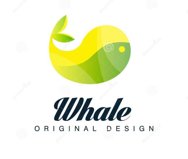 Whale Logo Original Design Emblem Can Be Used For Brand Identity Travel Agency Shipping Company Seafood Market Pool Vector Illustration Isolated On A