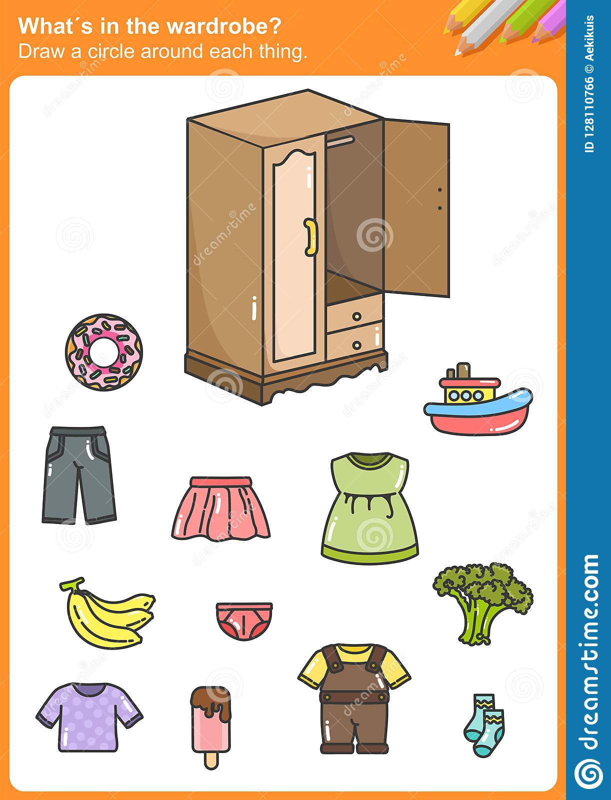 Whata S In The Wardrobe Draw A Circle Around Each Thing