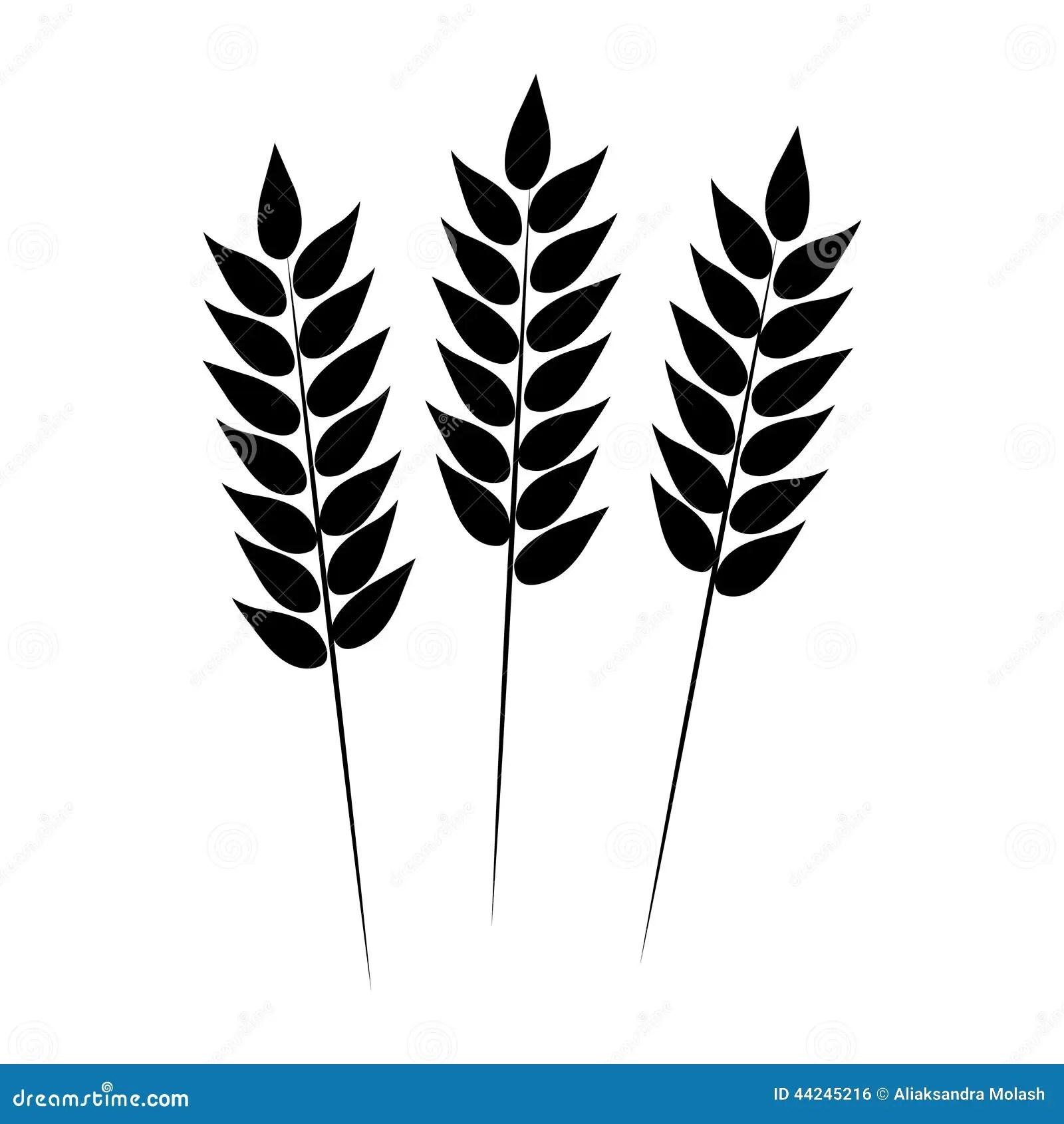 Wheat Icon Vector Illustration Stock Vector
