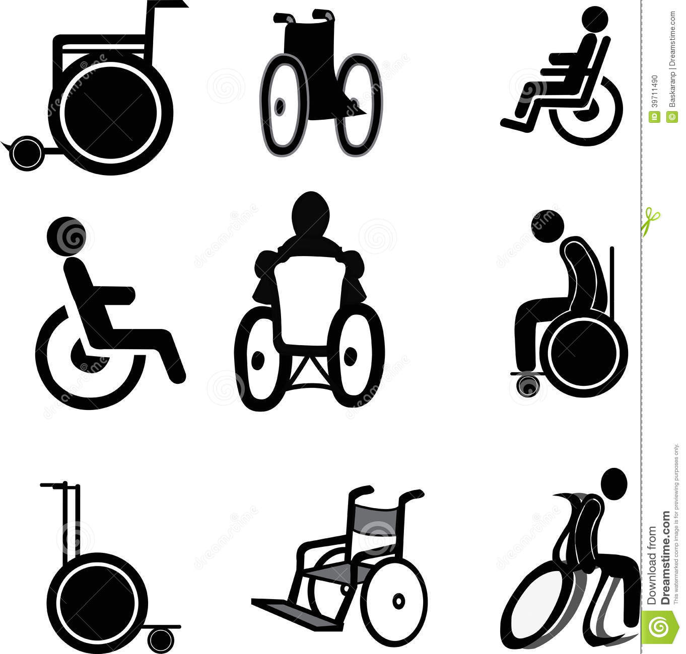 Wheelchair Icons Stock Vector Image Of Care Equipment