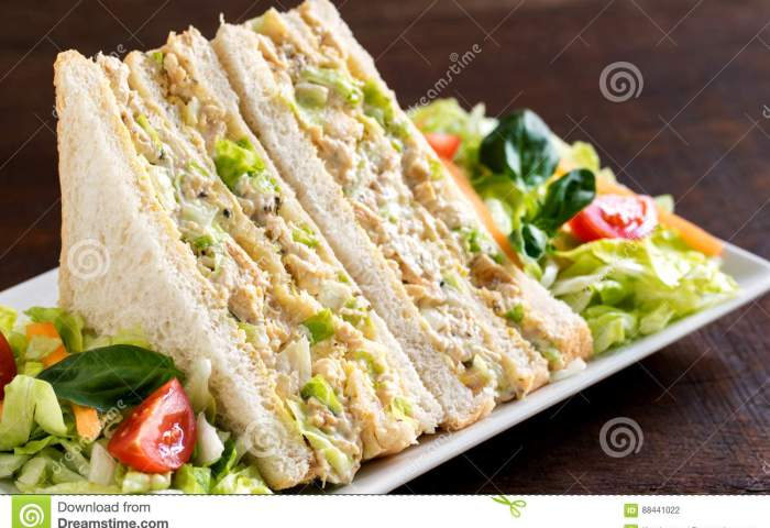 White Bread Chicken And Mayonnaise Sandwich Stock Photo Image Of
