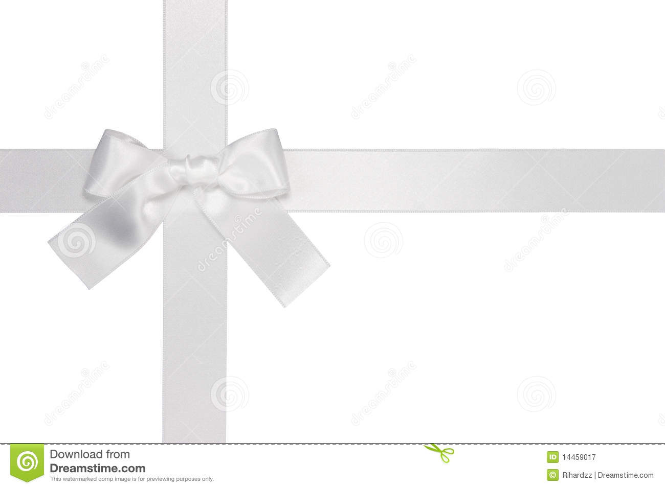 White Cross Ribbon With Bow Royalty Free Stock Photography