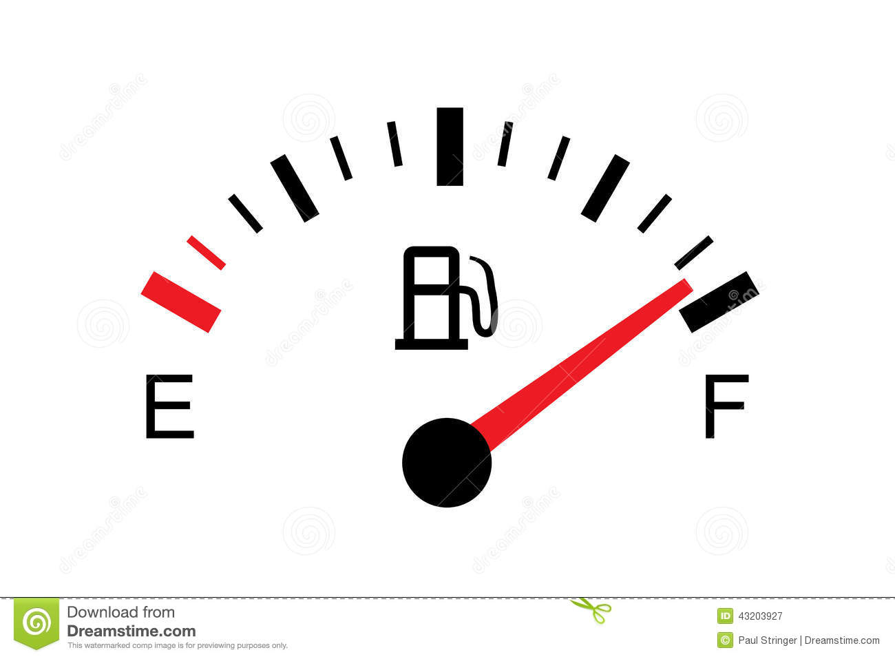 White Gas Tank Illustration On White Full Stock