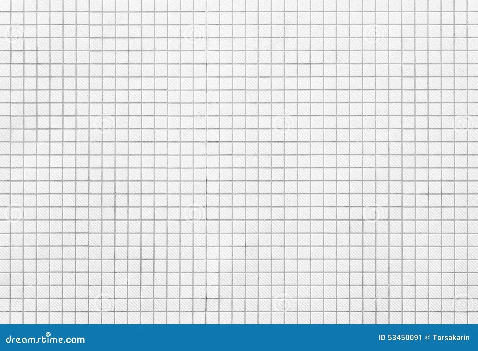 White Mosaic Tiles Stock Photo Image 53450091