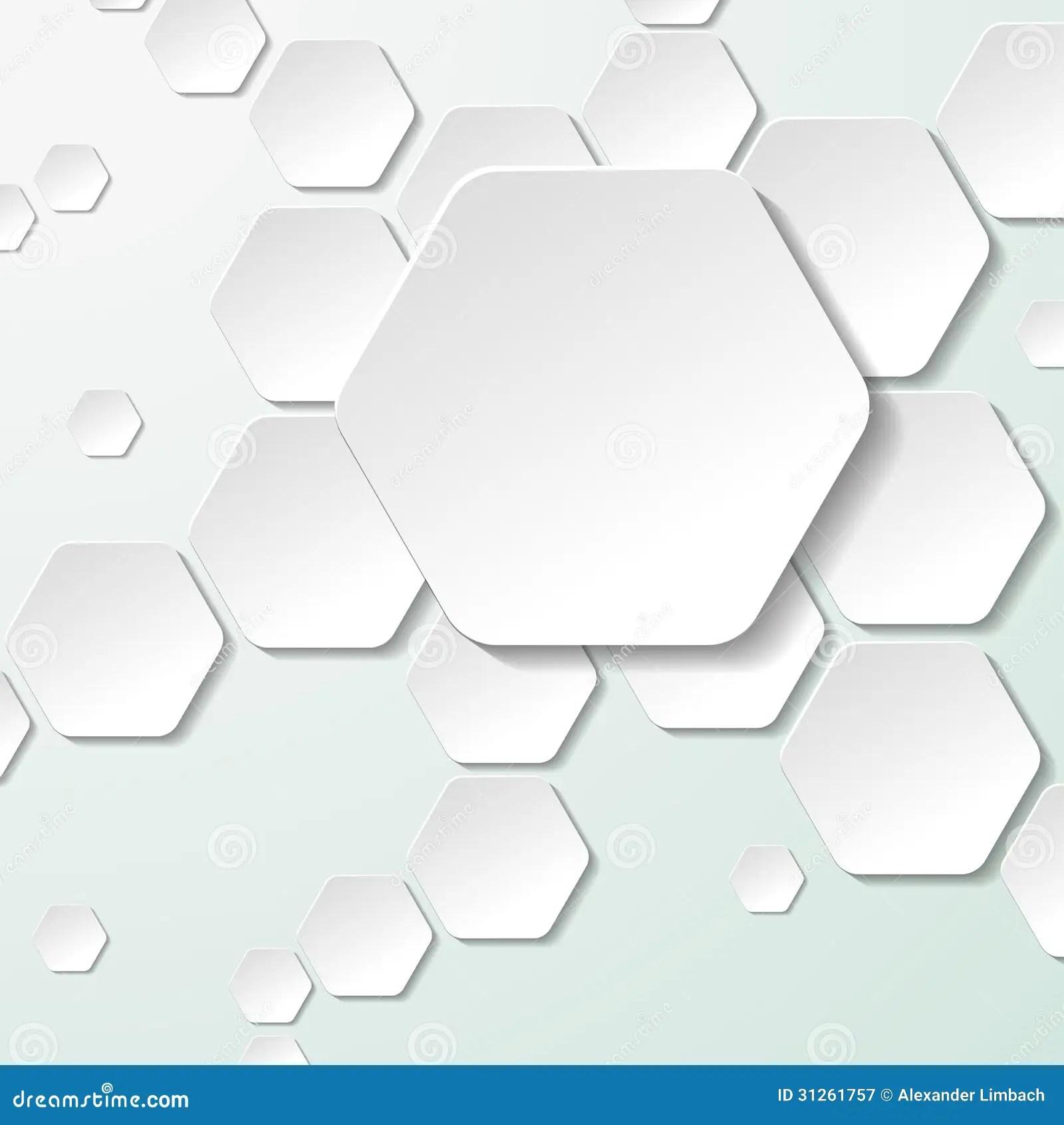 Hexagon Labels White Paper Hexagon Labels Eps 10 Vector