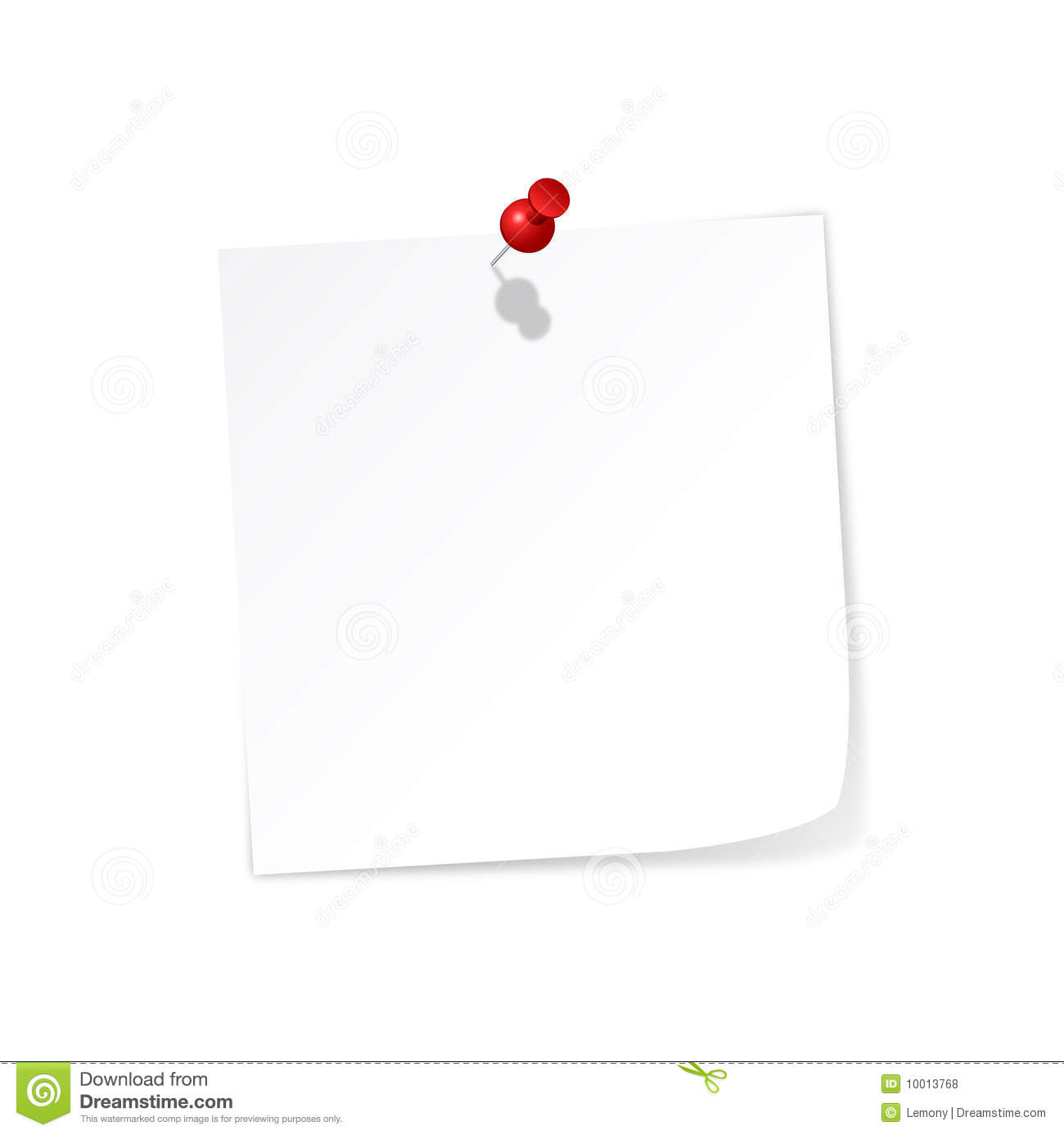 White Post It Royalty Free Stock Photos Image 10013768