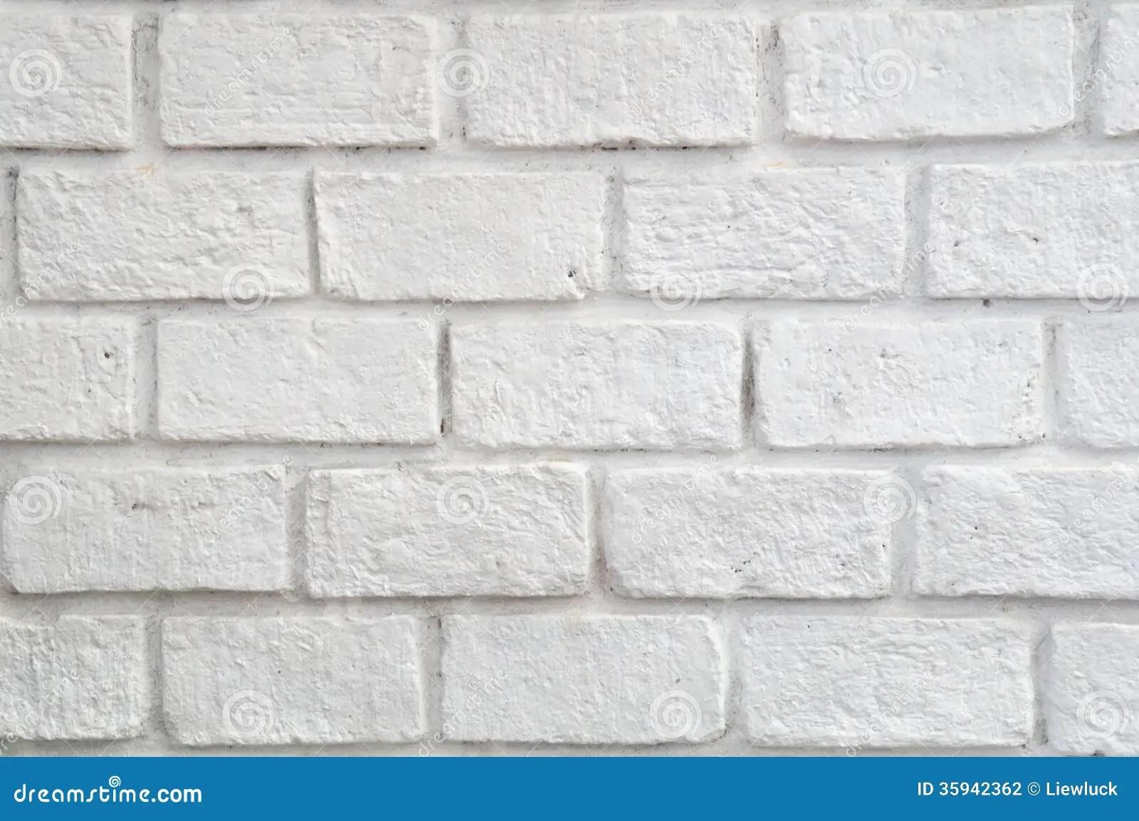 White Stone Brick Wall Stock Photography