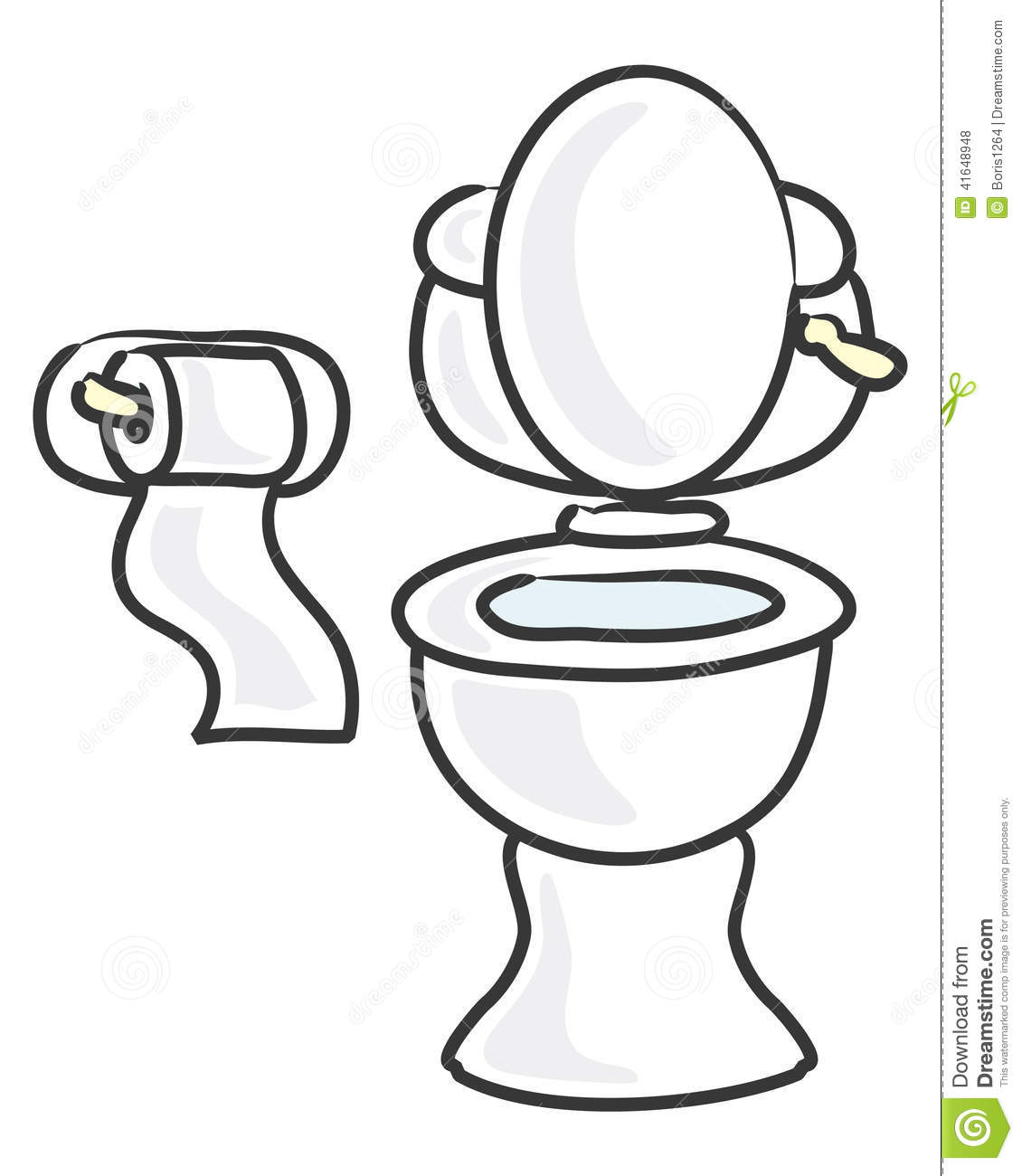 White Toilet Stock Vector Illustration Of Bathroom