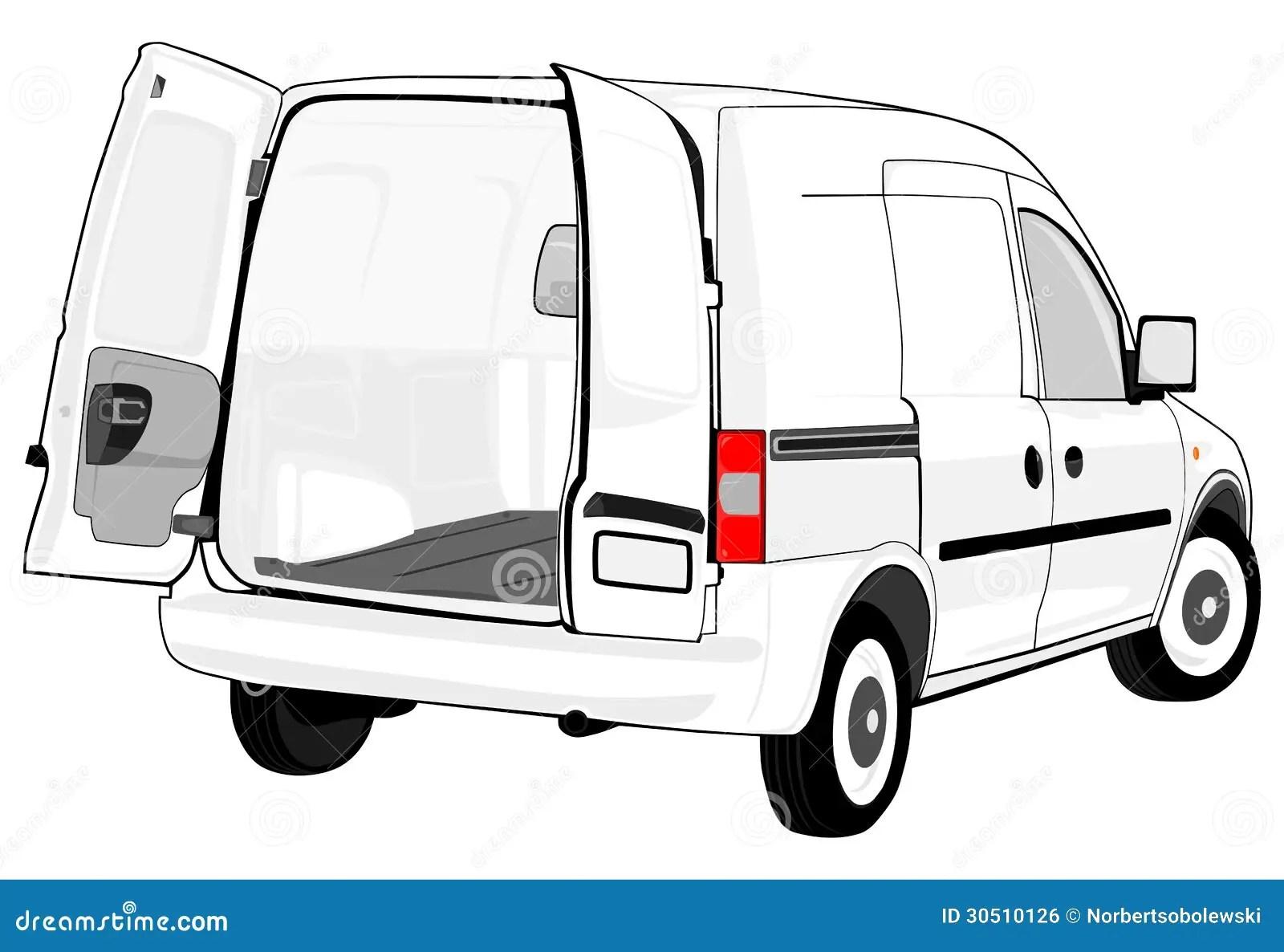 White Van Stock Illustration Illustration Of Employee