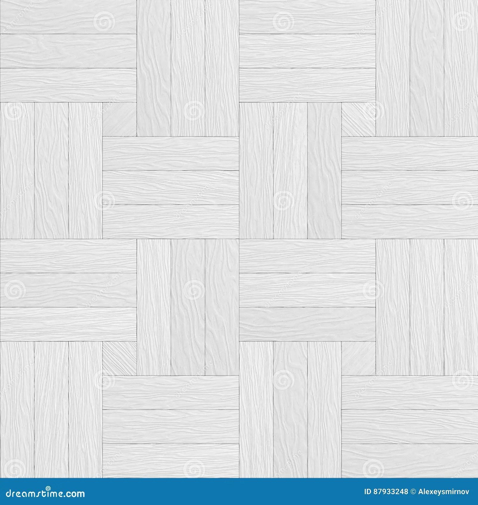 White Wooden Parquet Decor Seamless Texture Stock