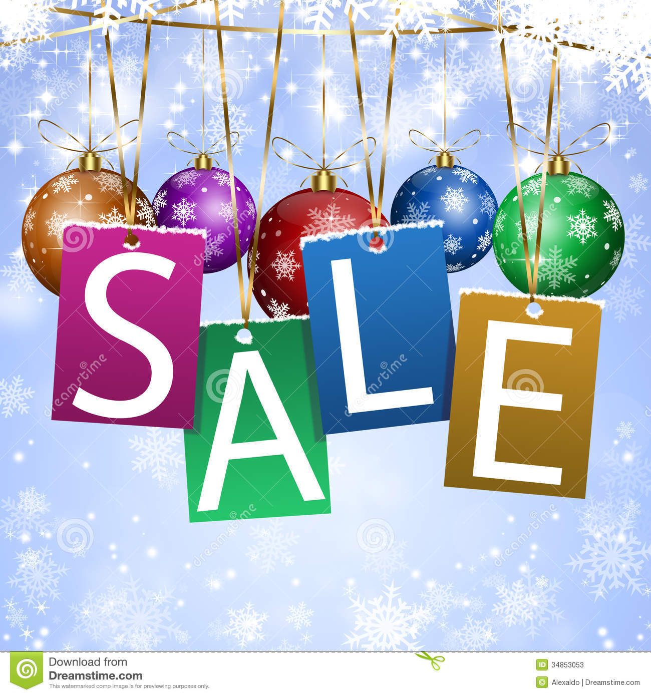 White Xmas Sale Stock Photos Image 34853053