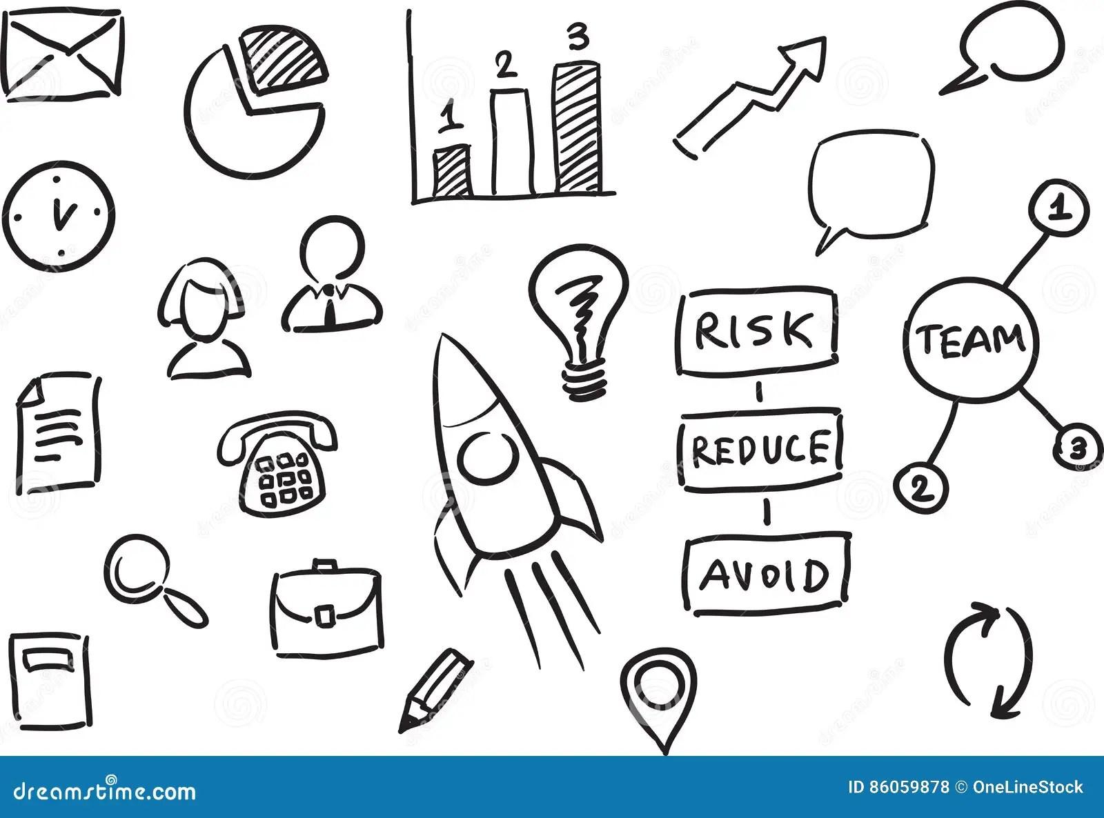 Whiteboard Business Presentation Template Stock Vector