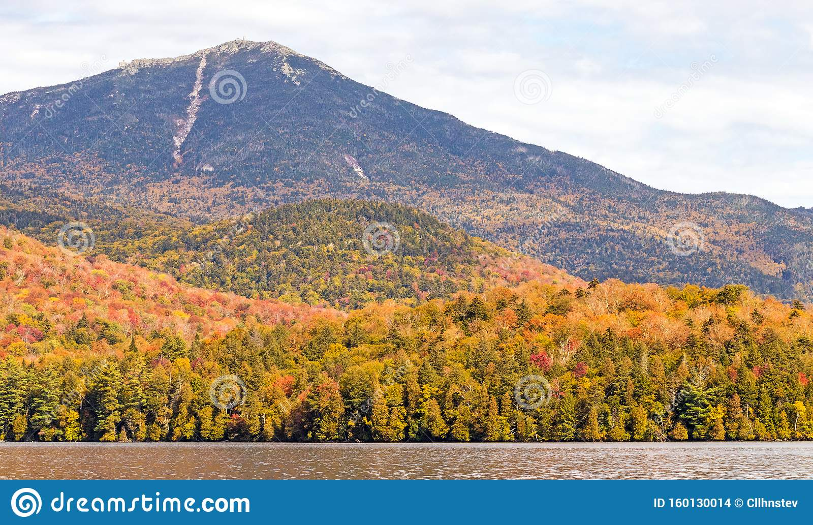 Embark on unforgettable adventures in lake placid, new york. Whiteface Mountain And Autumn Colors In Adirondacks Stock Photo Image Of Orange Cloudsshowing 160130014