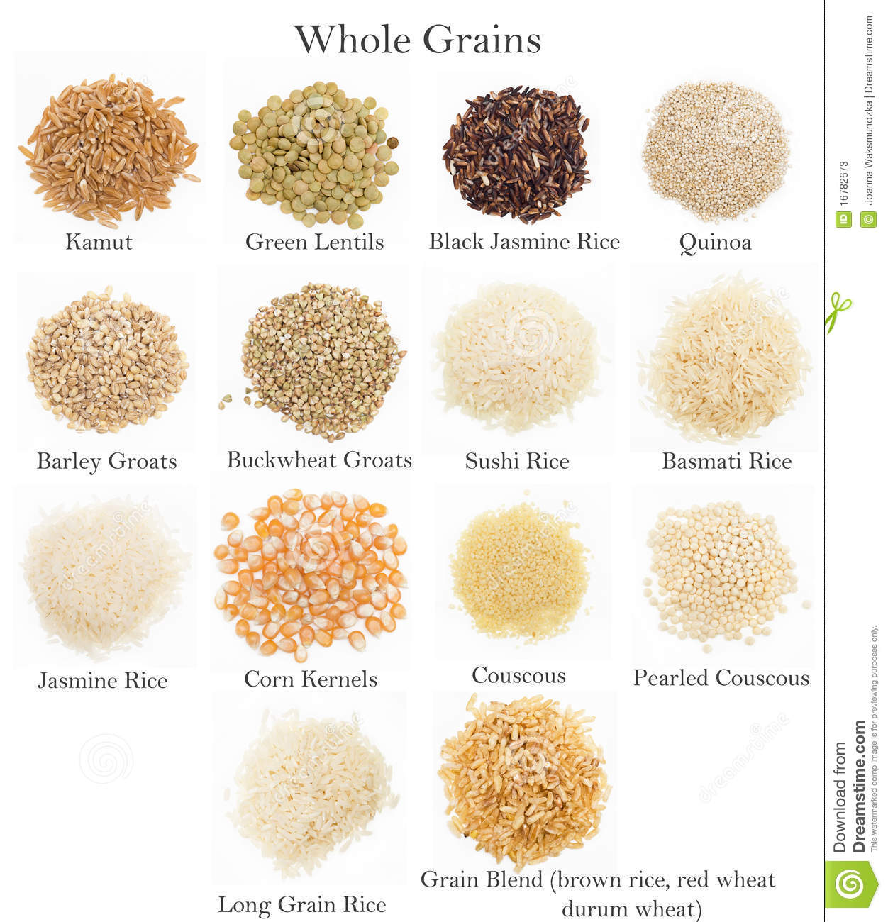 Whole Grains Collection Stock Image Image Of Quinoa
