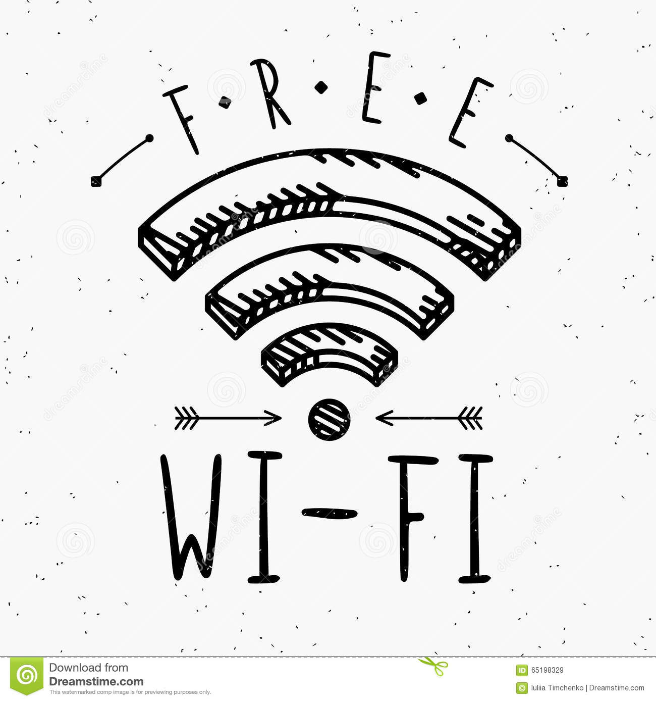 Wi Fi Sign In Vintage Style Stock Vector