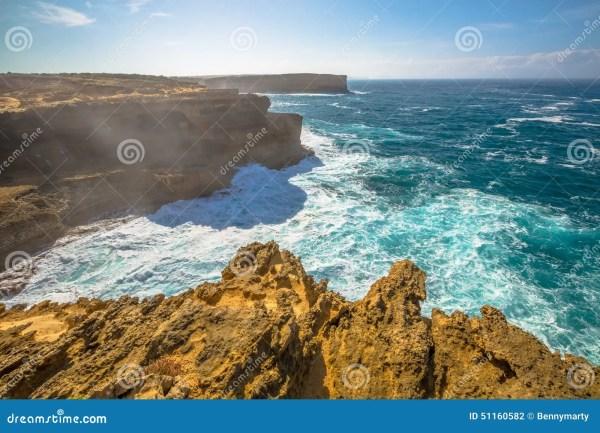 Wild coast Victoria stock photo. Image of stacks ...